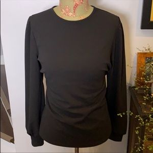 NWT Express Black Puff Sleeve Blouse